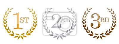 Obraz 1-cia, 2. ; 3-ci nagrody emblematy złote .