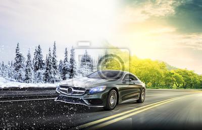 Obraz 2 seasons on the road car
