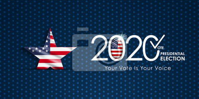 Obraz 2020 Presidential Election. 2020 United States of America Presidential Election. Vote America Presidential Election Vector Design.