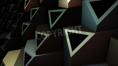 Obraz 3d ilustracji abstrakcyjnych kompozycji geometrycznej, cyfrowe dzieła sztuki.