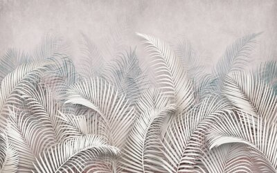 Obraz 3d picture of palm leaves on the background
