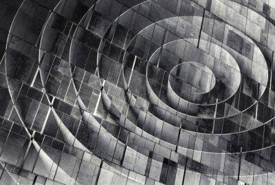 Obraz 3d spiral nad betonową ścianą tekstury, abstrakcyjny