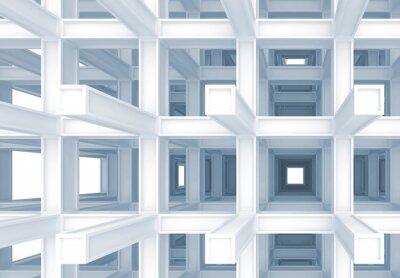 Obraz 3d streszczenie cyfrowe tła, niebieski Wzmocniona konstrukcja