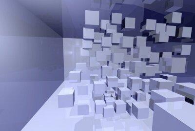 Obraz 3D Würfel im gespiegelten Raum - Komplexität