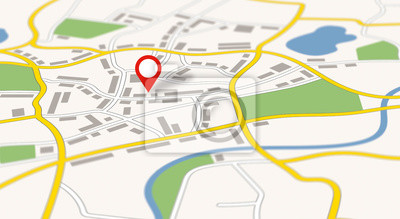 Obraz A generic city map with a pin