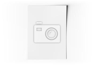 Obraz A4 blank paper sheet mockup on white 3D rendering