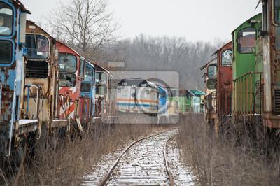Abandoned Rail Yard Tor Perspektywa