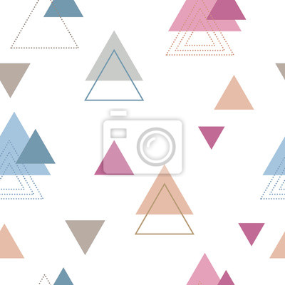 Absctract nordic triangle geometric patten design for decoration interior, print posters, card, wrapping in modern scandinavian style in vector.