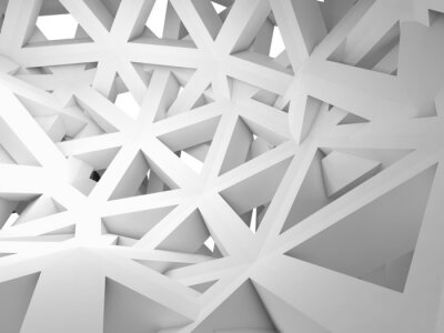 Obraz Abstract 3d background with chaotic construction