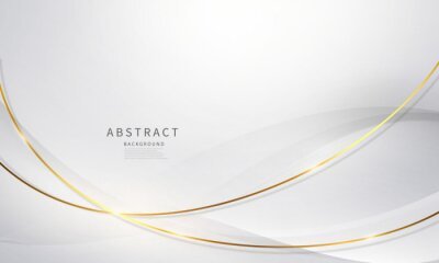 Obraz abstract background luxury white gold Modern