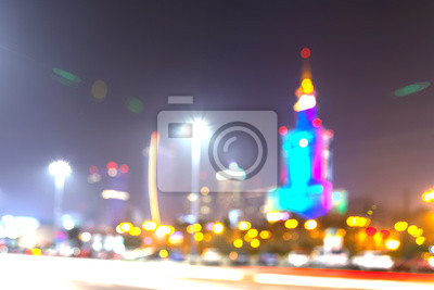 Abstract background made of blurred city at night.