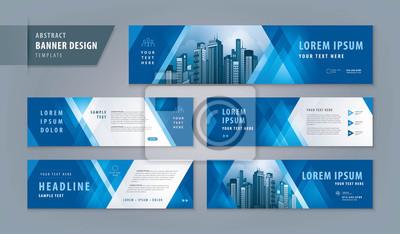 Obraz Abstract banner design web template Set, Horizontal header web banner