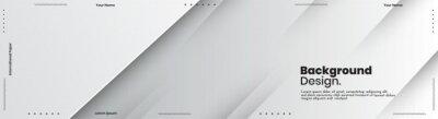 Obraz Abstract banner design web templates, horizontal header web banner. Modern abstract cover header background for website design, Social Media Cover advertising banner, flyer, invitation card