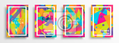 Obraz Abstract color background set for creative design