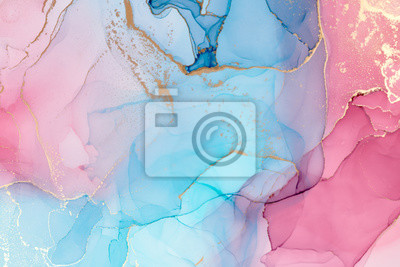 Obraz  Abstract colorful background, wallpaper. Mixing acrylic paints. Modern art. Paint marble texture. Alcohol ink colors  translucent