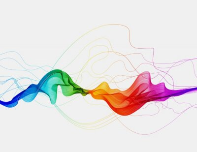 Obraz Abstract colorful background with wave