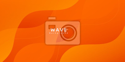 Obraz Abstract colorful orange curve background