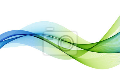 Obraz Abstract colorful vector background, color wave for design brochure, website, flyer.
