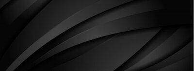 Obraz Abstract Dynamic Black Background with Various Shape Design. Usable for Background, Wallpaper, Banner, Poster, Brochure, Card, Web, Presentation. Vector Illustration Design Template.