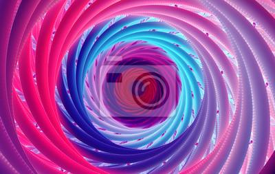 Obraz Abstract fantasy flowers swirl tunnel