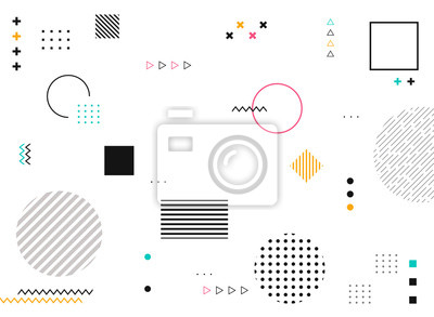 Obraz Abstract geometric shapes of colorful modern pattern background.