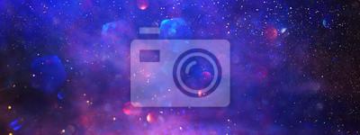 Obraz abstract glitter silver, purple, blue lights background. de-focused. banner