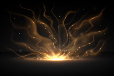 Obraz Abstract gold light effect background