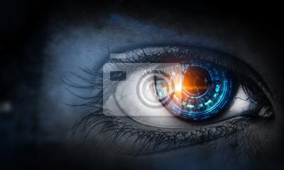 Obraz Abstract high tech eye concept