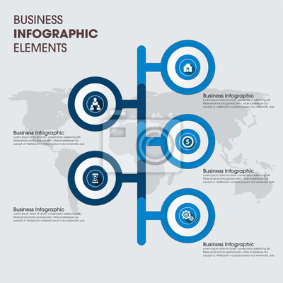 Abstract infographics number options template. Vector illustration. Business data visualization. Process chart. Abstract elements of graph, diagram with steps, options, parts or processes.