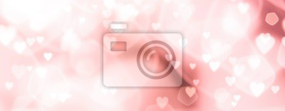 Obraz Abstract pastel background with hearts - concept Wedding Day, Mother's Day, Valentine's Day, Birthday - spring colors