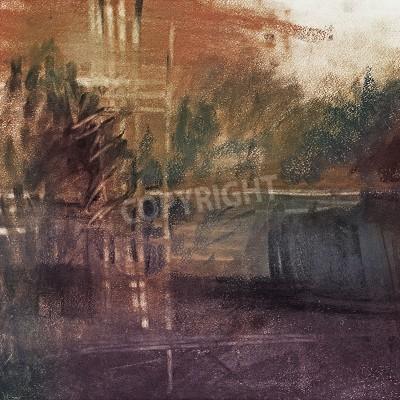 Obraz abstract pastel on paper landscape, art, impressionism