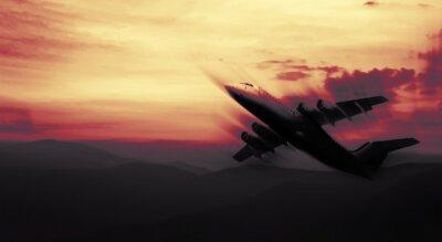 Obraz abstract samolot