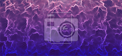 Obraz Abstract science or technology background. Graphic design. Network illustration with particle. 3D grid surface.