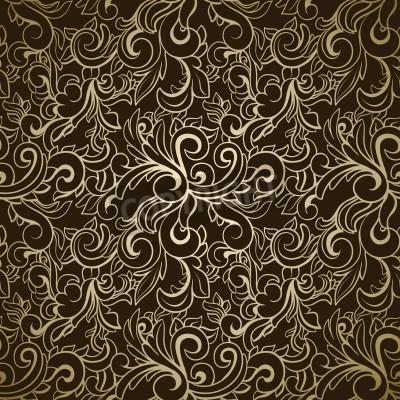 Obraz Abstract seamless pattern on dark background