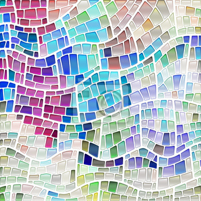 Obraz abstract vector stained-glass mosaic background