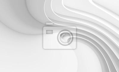 Obraz Abstrakcjonistyczny architektury tło. Biały okrągły budynek