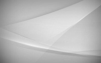 Obraz Abstrakcjonistyczny biel i popielaty nowożytny gładki z futurystycznym pojęcia tłem