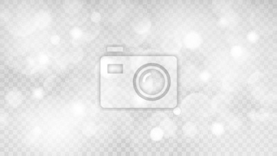 Obraz Abstrakcjonistyczny przejrzysty lekki tło z bokeh skutkami w szarych kolorach. Przejrzystość tylko w formacie wektorowym