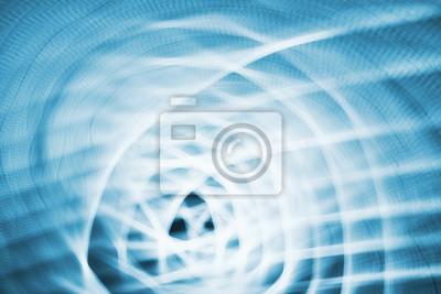 Abstrakcjonistyczny tło robić powiększać i obraca kamerę wskazującą przy miast światłami przy nocą.