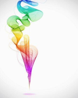 Obraz Abstrakcyjna kolorowe tło z fal, ilustracji