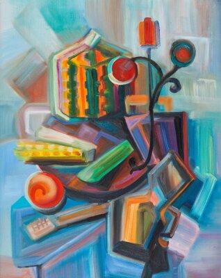 Obraz Abstrakcyjna martwa natura z dyni