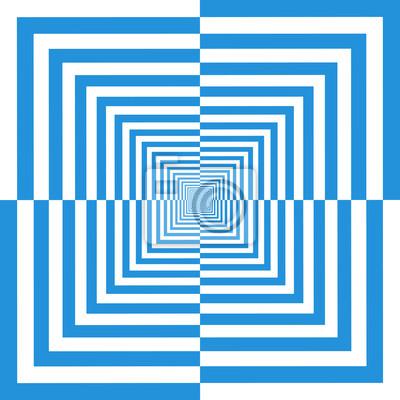 Obraz Abstrakcyjna niebieskie tło w stylu art opt