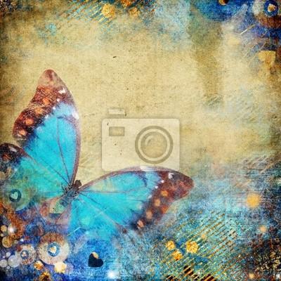 abstrakcyjna retro tła z Motyl