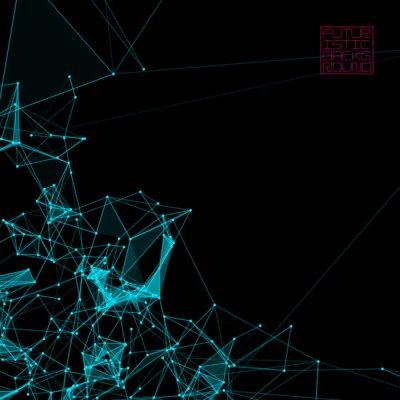 Obraz Abstrakcyjne tła z kropkami sieci