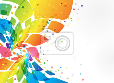 Obraz Abstrakcyjne tło, kolorowy element na białym tle