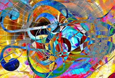 Obraz abstrakcyjne tło muzyczne motywu z klucz wiolinowy, nowoczesny design.