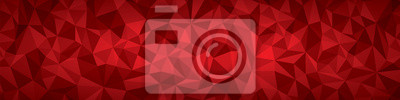 Obraz Abstrakcyjne tło wektor geometrii, czerwone samoloty panorama