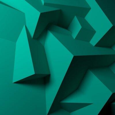 Obraz Abstrakcyjne tło z zielonych kostek nakładających