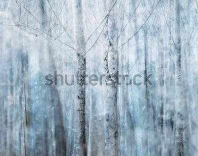 Obraz abstrakcyjny las
