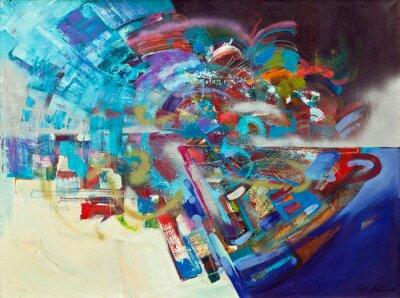 Obraz Abstrakcyjny obraz olejny 02